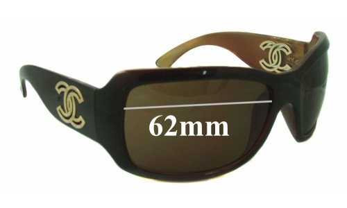 Chanel 6018 Replacement Sunglass Lenses - 62mm wide