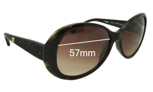 Chanel 6165-B Replacement Sunglass Lenses - 57mm wide