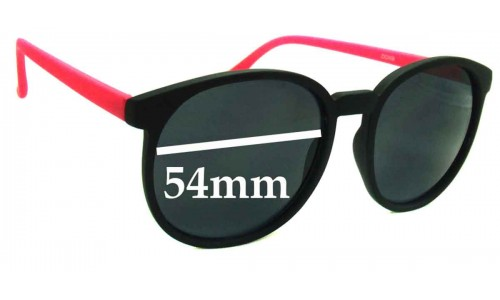 D-eye ZX2409 New Sunglass Lenses - 54mm Wide