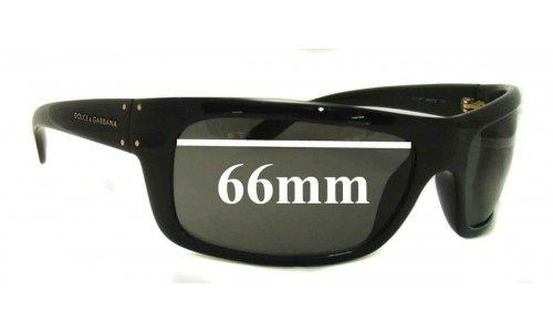 Sunglass Fix Replacement Lenses for Dolce & Gabbana D&G Replacement Sunglass Lenses- 66mm Wide