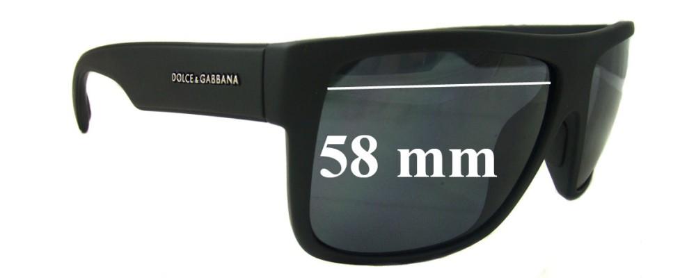 Dolce & Gabbana DG6070 Replacement Sunglass Lenses- 58mm Wide