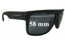 Sunglass Fix New Replacement Lenses for Dolce & Gabbana DG6070 - 58mm Wide