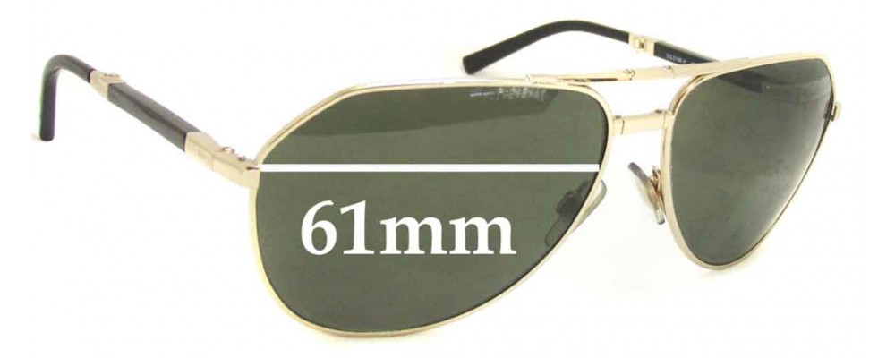 Dolce & Gabbana DG2106 or DG2106K Replacement Sunglass Lenses - 61mm wide