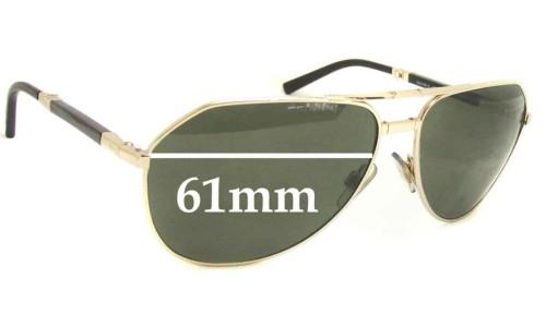 Dolce & Gabbana DG2106 or DG2106K Replacement Sunglass Lenses - 61mm wide