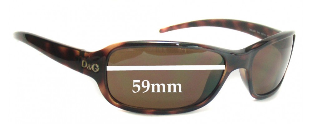 Dolce & Gabbana DG2200 Replacement Sunglass Lenses - 59mm wide