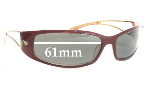 Emporio Armani  EA9147 Replacement Sunglass Lenses - 61mm Wide