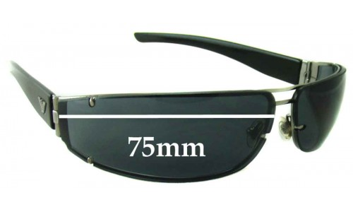 EMPORIO ARMANI Vintage Unknown Replacement Sunglass Lenses - 75mm wide