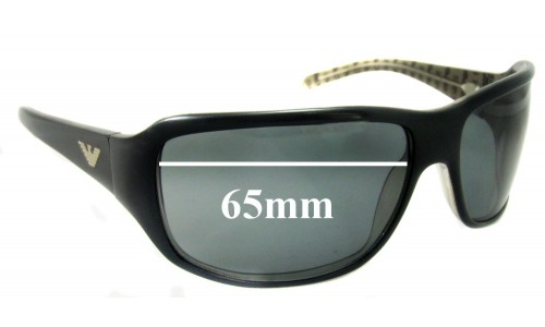 EMPORIO ARMANI 9178 Replacement Sunglass Lenses - 65mm Wide