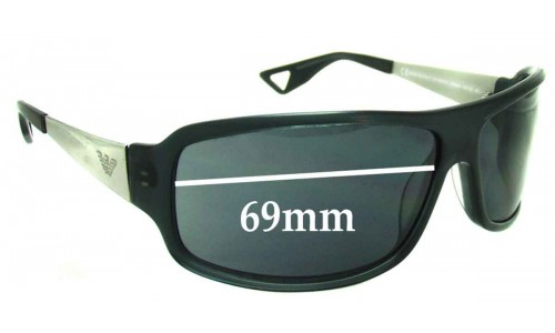 Emporio Armani EA 9531-S Replacement Sunglass Lenses - 69mm wide
