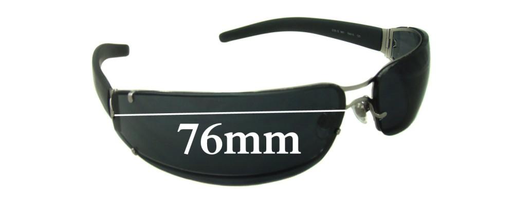 EMPORIO ARMANI EA206-S Replacement Sunglass Lenses - 76mm wide