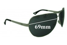 EMPORIO ARMANI EA9367S Replacement Sunglass Lenses - 69mm Wide