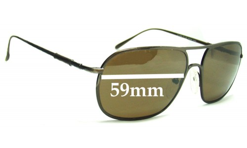 Ermenegildo Zegna SZ 3018N Replacement Sunglass Lenses - 59mm wide