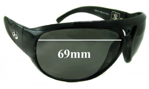 Evoke Sepultura BK004 Replacement Sunglass Lenses - 69mm Wide