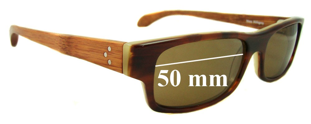 Fetch Masa Mahogany Replacement Sunglass Lenses - 50mm wide