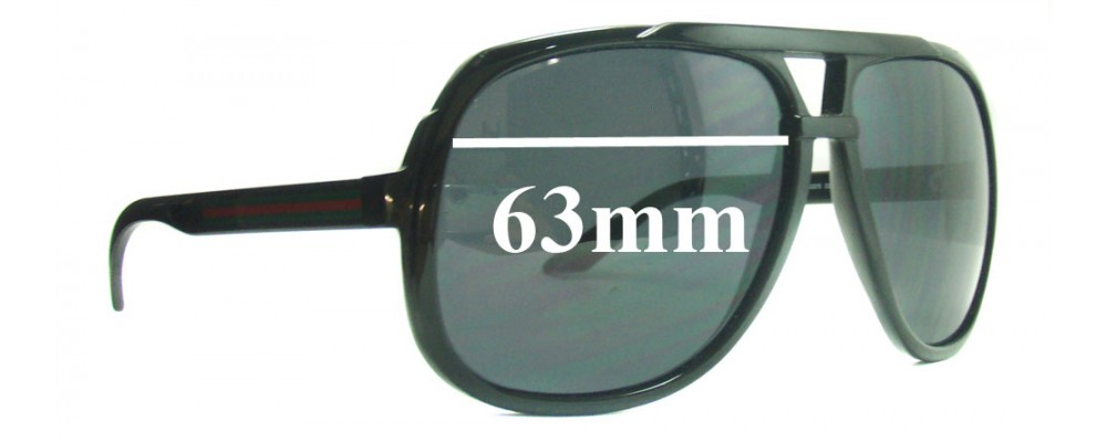 Gucci GG1622/S Replacement Sunglass Lenses - 63mm Wide