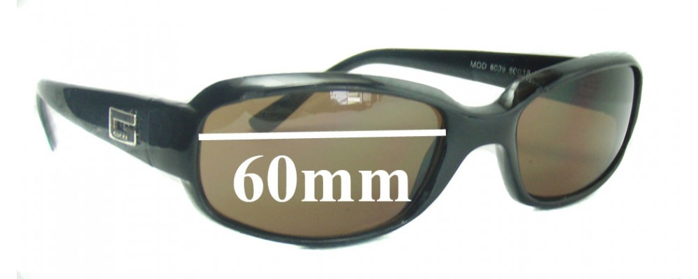 Gucci 8039 Replacement Sunglass Lenses - 60mm wide