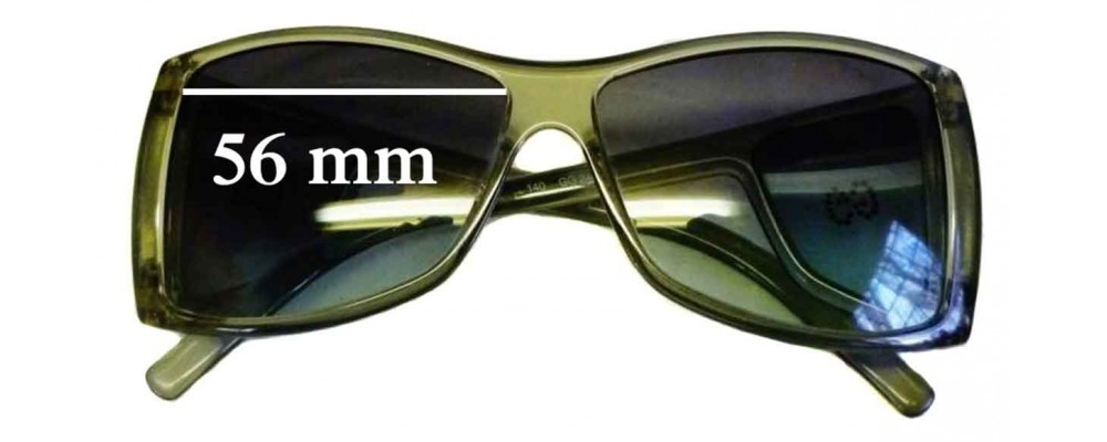 Gucci GG2466 Strass Replacement Sunglass Lenses - 56mm wide by 44mm tall