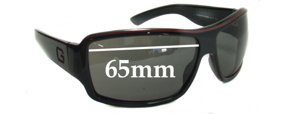 Gucci GG1621/S Replacement Sunglass Lenses - 65mm