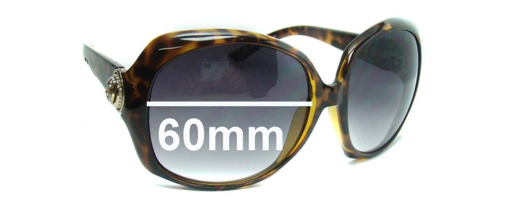 Gucci GG3042 Replacement Sunglass Lenses - 60mm wide
