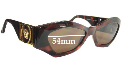 Versace Gianni MOD 421 Replacement Sunglass Lenses - 54mm Wide