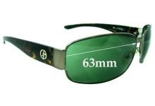 Giorgio Armani 179/S KB4 Replacement Sunglass Lenses - 63MM