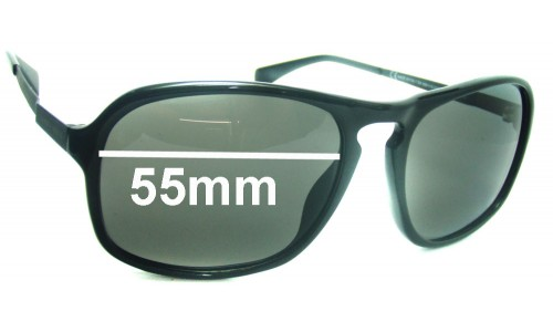 Giorgio Armani GA 668VS Replacement Sunglass Lenses - 55mm wide