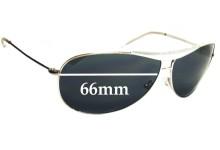 Giorgio Armani GA 134/S Replacement Sunglass Lenses - 66mm wide