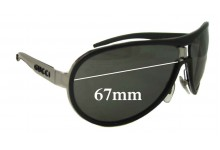 Gucci GG1566/S Replacement Sunglass Lenses - 67mm Wide