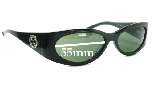 Gucci GG2527S Replacement Sunglass Lenses - 55mm wide