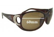 Hermes 143T33 Replacement Sunglass Lenses 60 mm wide