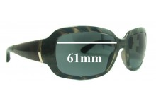 Jimmy Choo TRIXIE/S Replacement Sunglass Lenses 61mm wide lenses