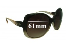 Jimmy Choo Dahlia Replacement Sunglass Lenses 61mm wide