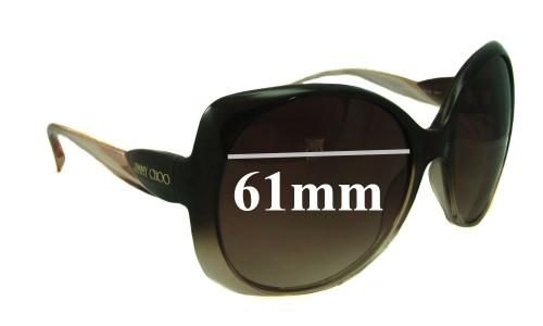 Jimmy Choo Dahlia New Sunglass Lenses 61mm wide