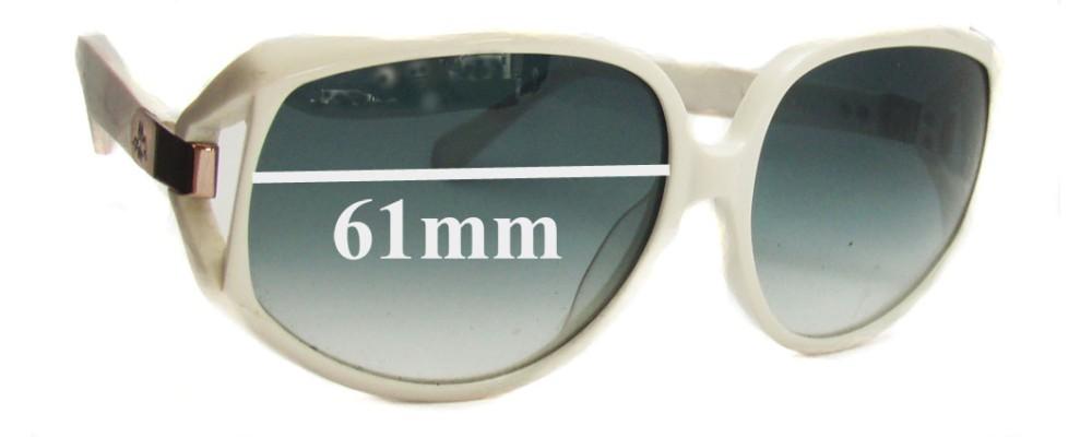 Sunglass Fix New Replacement Lenses for Karen Walker Amelia - 61mm Wide