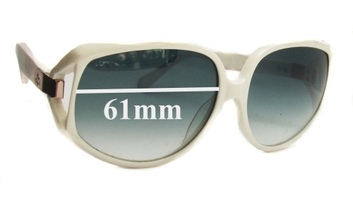 Karen Walker Amelia 565080 Replacement Sunglass Lenses - 61mm Wide