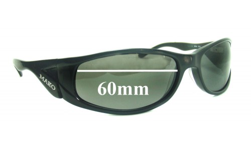 Mako 9494 New Sunglass Lenses - 60mm Wide