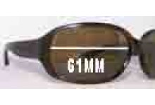 MARC BY MARC JACOBS MMJ 007/P/S Replacement Sunglass Lenses - 61mm Wide