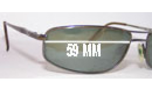 Mako Sovereign 9458 Replacement Sunglass Lenses - 59mm Wide