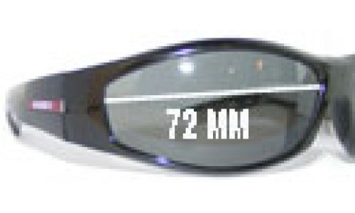 Mako Swing 9542 Replacement Sunglass Lenses - 72mm Wide