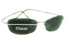 Maui Jim MJ503 Wailea Replacement Sunglass Lenses - 53mm Wide
