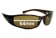 Maui Jim MJ106 HOKO Replacement Sunglass Lenses - 64mm Wide