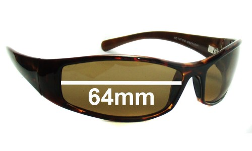 Maui Jim MJ106 HOKO Replacement Sunglass Lenses - 64mm Wide