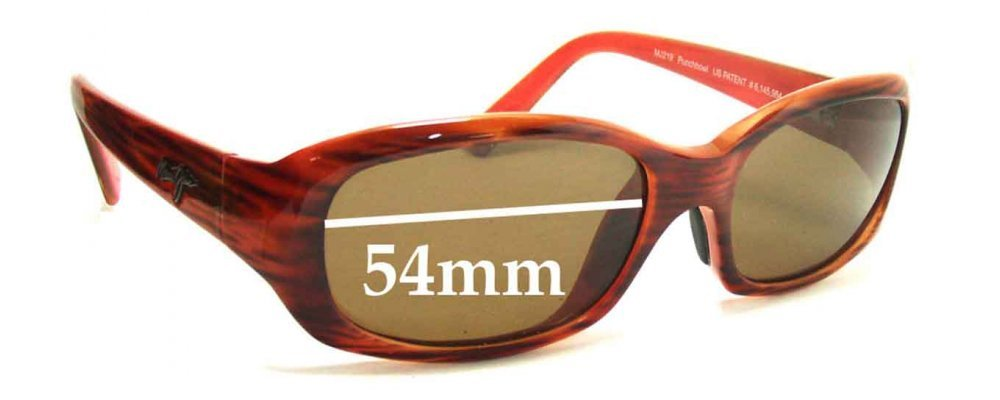 e827e63598 Sunglass Fix Replacement Lenses for Maui Jim MJ219 Punchbowl - 54mm Wide