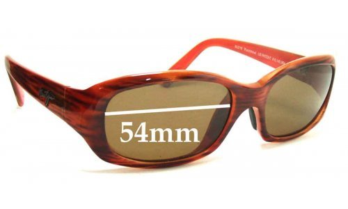 Maui Jim MJ219 Punchbowl Replacement Sunglass Lenses - 54mm Wide