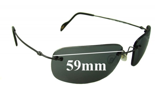 Maui Jim MJ311 Replacement Sunglass Lenses - 59mm Wide