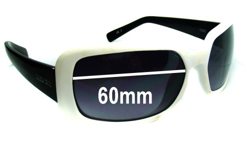 Minx Cote 5291 Replacement Sunglass Lenses - 60mm Wide