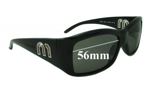 Miu Miu SMU02H Replacement Sunglass Lenses - 56mm wide