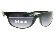 Sunglass Fix New Replacement Lenses for New Balance NBSUN374-3 - 64mm Wide