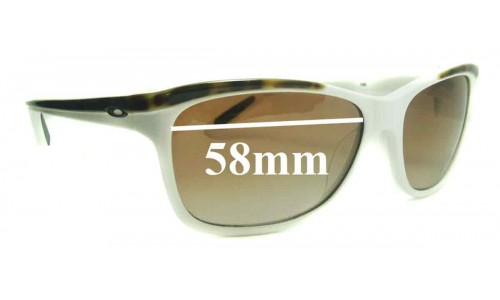 Oakley Confront 58mm wide Replacement Sunglass Lenses