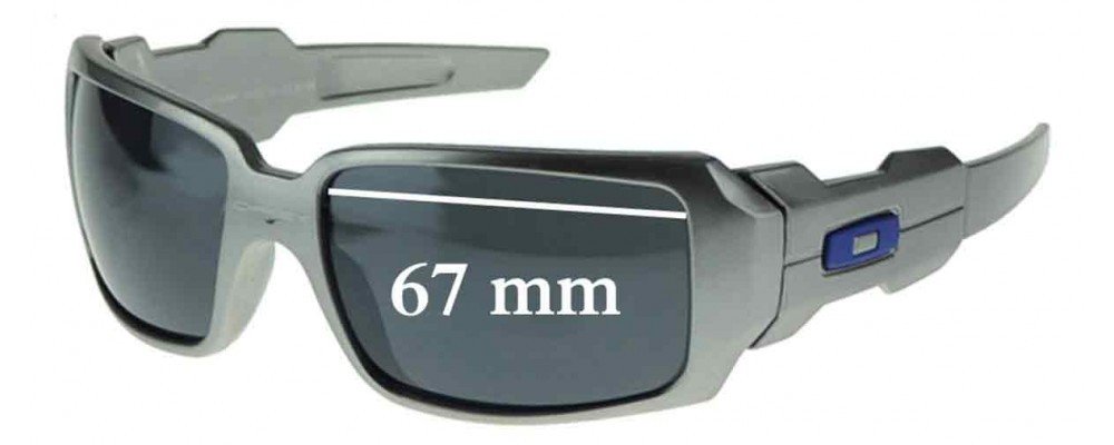 96dfcd30c9 Oakley Oil Rig Replacement Sunglass Lenses - TWO LENSES - Not Goggles- -  67mm wide
